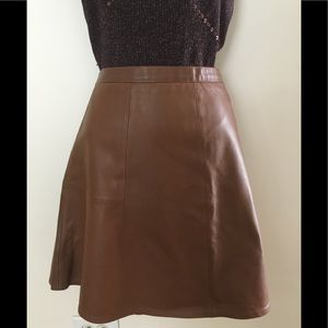 J CREW GENUINE A LINE LEATHER SKIRT. 14